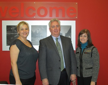 Pictured, from left, Shannon Zaccaria, Grand Island Chamber of Commerce Citizen of the Year Planning Committee member, met with Michael Keating and Yvonne Michaels at their 2180 Grand Island Blvd. KeyBank branch location to say thank you for their silver sponsorship of the event.