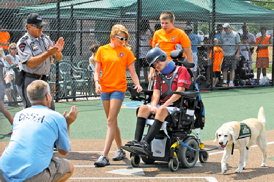 Members of area law enforcement were `superstar buddies` for players Sunday in a game of the Miracle League of Grand Island and Western New York.