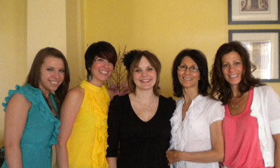 Instructors (from Left) Kayla Fyfe, Patti Hewitt, Laura Brodie, Kathy Abbondanza and Rachel Novelli.