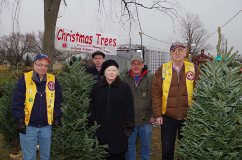 Grand Island Lion's Club Christmas Tree Fundraiser Ongoing