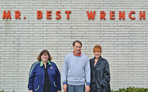 Gold sponsors: Mr. Best Wrench (from left) Fran McMahon, chair of Light Up the Boulevard; Rod Reisdorf, owner of Mr. Best Wrench; and Beverly Kinney, Light up the Boulevard Committee member.