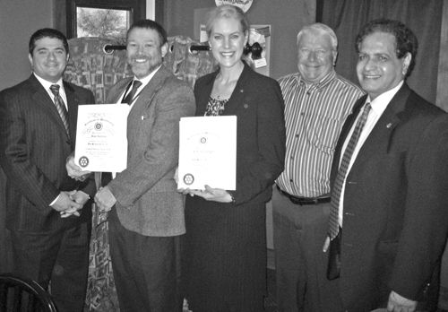 The Rotary Club of Grand Island inducted two new members at its Oct. 3 meeting. From left, Grand Island Rotary Club members, Rotarian Joe Philippone proposed Ron Sutton, and Cheryl Zanghi was proposed by Rotarian Gary Roesch. They were joined by GI Rotary President Akhtar Mirza.