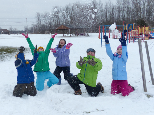 The students from St. Stephen School enjoyed a great time outdoors with a `Snow Day.`