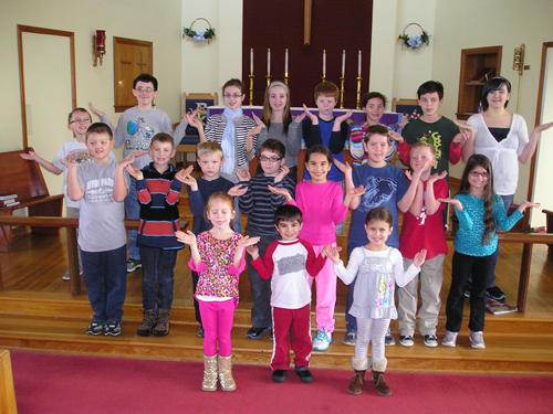 The cast of the St. Martin-in-the-Fields Episcopal Church Christmas Pageant includes 24 parish youth.