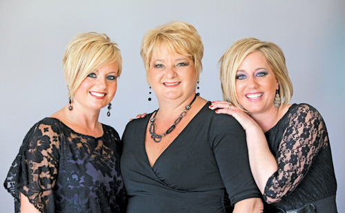 From left, owners of Wavelengths Hair Design, Danielle Neuhaus, Ingrid Kinney and Erica Forbes.