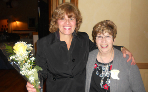 Mary Travers Murphy, left, executive director of the Family Justice Center in Buffalo, gave a talk on Oct. 23 to the Zonta Club of Grand Island at the Buffalo Launch Club. With Murphy is Zonta Club President Maria Burns. Murphy talked about the services available at the center for victims of domestic violence. October is Domestic Violence Awareness Month.