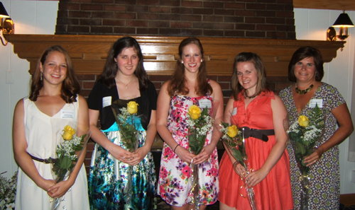 The Zonta Club of Grand Island awarded five scholarships to local women in ceremonies June 26 at the Buffalo Launch Club. The recipients are, from left, Samantha Kahn, Kallen McMillan, Kathleen Rustowicz, Kathryn Cobello and Janice Glose.