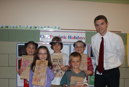 Students in Zachary Wood's second grade class at Kaegebein Elementary School to part in the Bags of Love to patients at Hospice of Buffalo. From left, front row: Jenna Duquin and Jonathan Click. Back row: Megan Lavis, Nathan DeMartin, Ethan Person, and Zachary Wood.