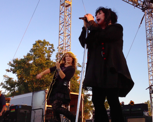 Heart performs at Artpark in 2012.