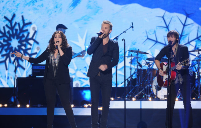 `American Country Awards`: Lady Antebellum performs `Christmas (Baby Please Come Home)` during the `American Country Awards` live in Las Vegas on Monday, Dec. 10, on FOX. (photo by Ray Mickshaw/FOX)