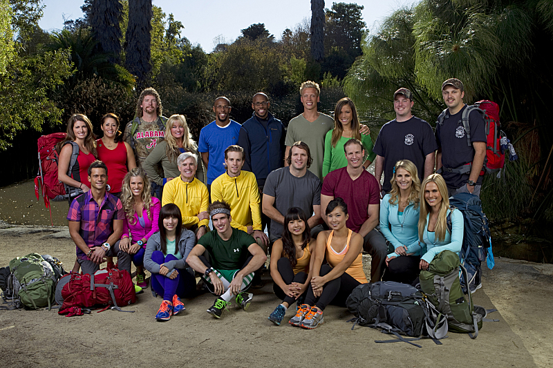 `The Amazing Race`: 11 teams will embark on a sprint around the globe on the 22nd installment of `The Amazing Race,` premiering Sunday, Feb. 17 (8 p.m.), on the CBS Television Network. Pictured: top row, from left: Mona and Beth, Chuck and Wynona, Jamil and Idries, John and Jessica, Dan and Matthew; middle row, from left: Max and Katie, David and Connor, Bates and Anthony, Jennifer and Caroline; bottom row, from left: Meghan and Joey, Pamela and Winnie. (Photo by Sonja Flemming/CBS ©2012 CBS Broadcasting Inc. All Rights Reserved.)