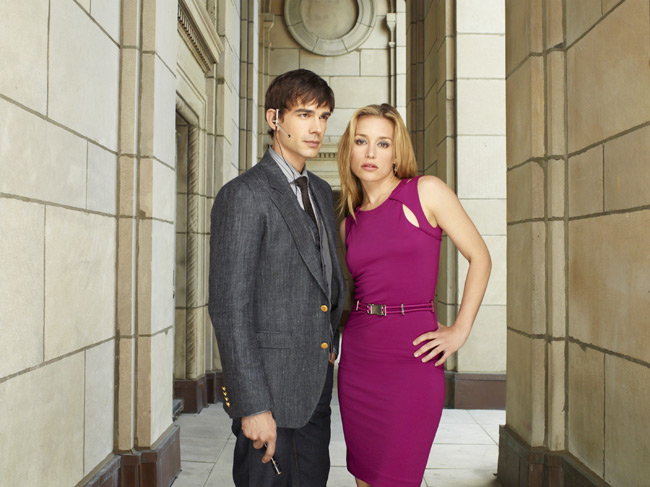 `Covert Affairs`: Christopher Gorham as Auggie and Piper Perabo as Annie Walker (by Robert Ascroft/USA Network)