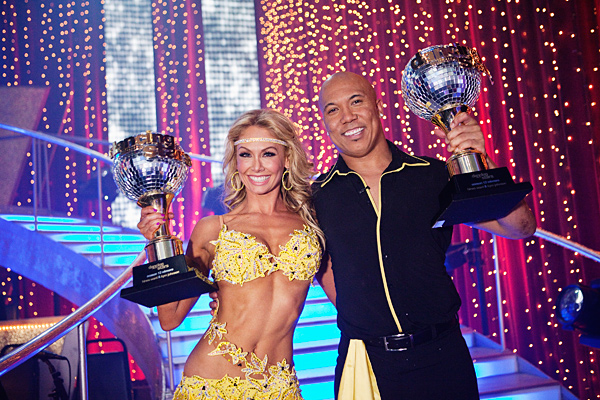 All of the frenzy and anticipation led up to the moment when the couples' scores from the judges were combined with the audience votes to name Hines Ward and Kym Johnson as season 12's champions of `Dancing with the Stars` and winners of the coveted mirror ball trophy, on the season finale, Tuesday, May 24,on the ABC Television Network. (photo ©2011 American Broadcasting Companies Inc. All rights reserved.)
