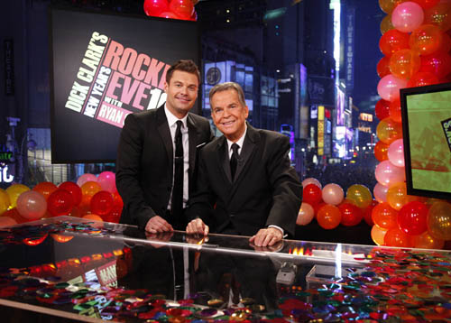 Ryan Seacrest and Dick Clark are the stars of `Dick Clark's New Year's Rockin' Eve with Ryan Seacrest` on ABC. (photo ©ABC/Heidi Gutman)