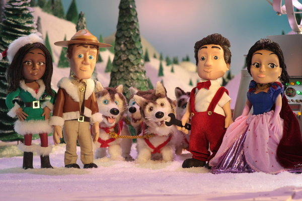 The cast of `Eureka` gets a little animated for Christmas. (Syfy photo)