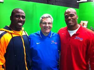 Pictured from left: Fred Jackson, Bob Koshinski and C.J. Spiller.