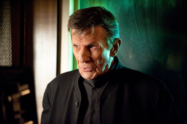 `Fringe`: In part-two of the season finale, Leonard Nimoy guest-stars in the `Brave New World, Part 2 of 2` episode airing Friday, May 11 (9 p.m.), on FOX. (photo ©2012 Fox Broadcasting Co. CR: Cate Cameron/FOX)