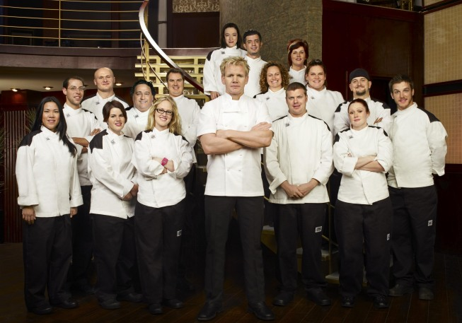 Chef Gordon Ramsay (center) turns up the heat on season eight of `Hell's Kitchen,` premiering Wednesday, Sept. 22, on Fox. (©2010 Fox Broadcasting Co./Cr: Brian Bowen Smith/FOX)