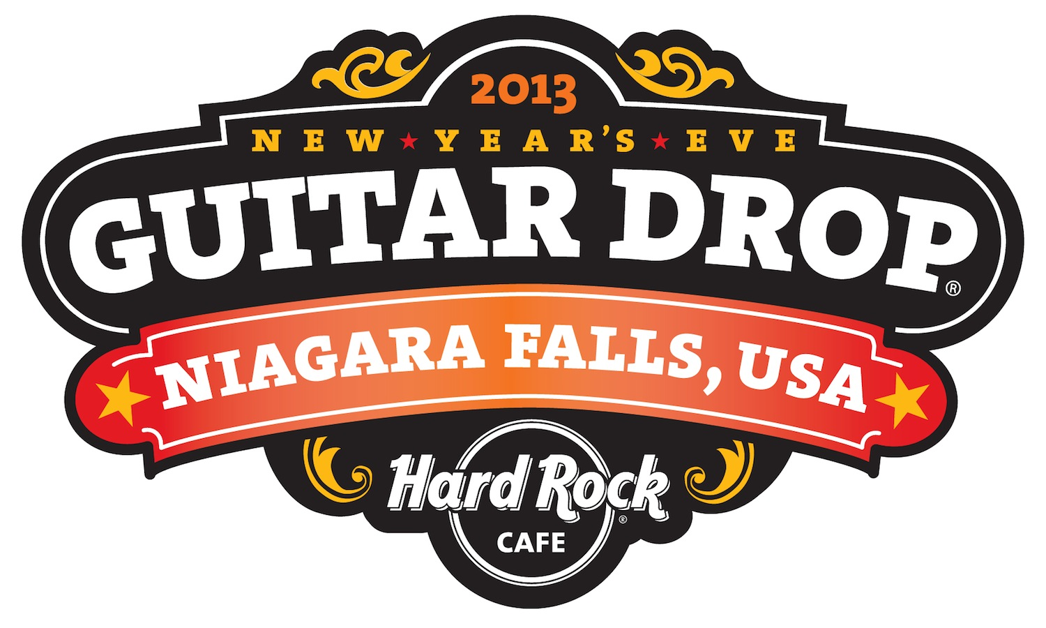 The Hard Rock Café, Niagara Falls USA, 4th annual New Year's Eve Guitar Drop