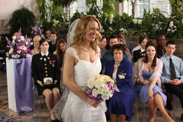 Pictured from `Warehouse 13` is guest star Jeri Ryan as Amanda Lattimer (Syfy photo by Stephen Scott)
