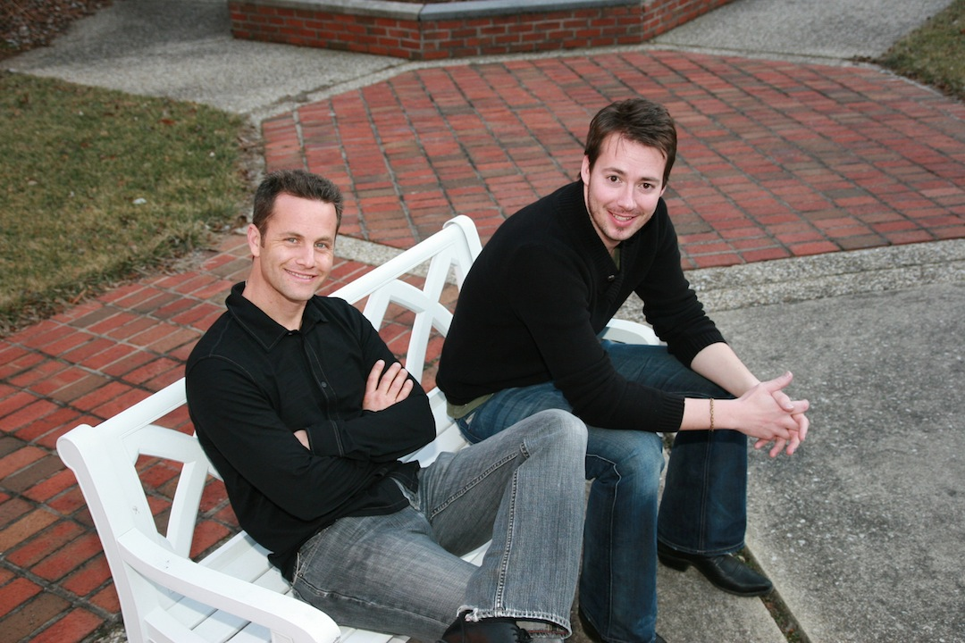 Actor Kirk Cameron (left) and singer Warren Barfield present the `Love Worth Fighting For` tour.