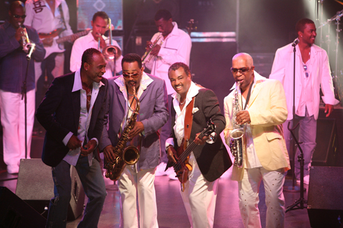 Pictured are Kool & The Gang founding members (from left) George Brown, Ronald Bell, Robert `Kool` Bell and Dennis Thomas. (Photo credit: Kool & The Gang)