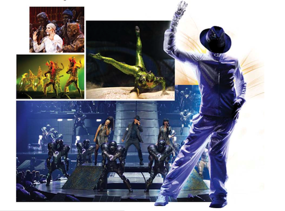 `Michael Jackson: The Immortal World Tour` is staged by Cirque Du Soleil.
