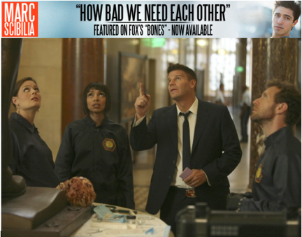 Brennan (Emily Deschanel), Cam (Tamara Taylor), Booth (David Boreanaz) and Hodgins (TJ Thyne) investigate remains found at a Washington, D.C., monument in `The Crack in the Code` episode of `Bones` on FOX. (photo ©2011 Fox Broadcasting Co./credit: Patrick McElhenney/FOX)