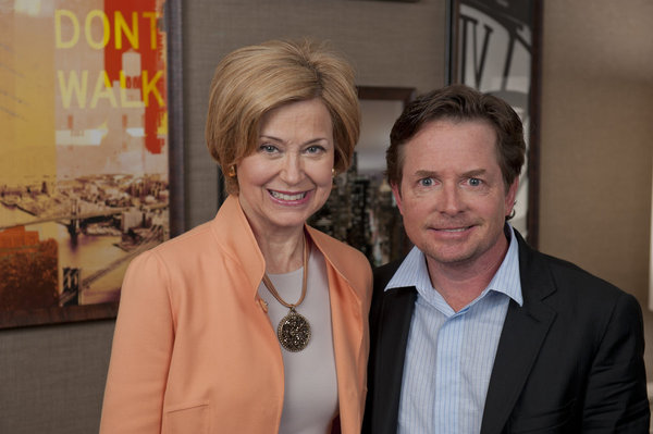 Jane Pauley speaks with Michael J. Fox on NBC's `Dateline.` (photo by Robin Oelkers)