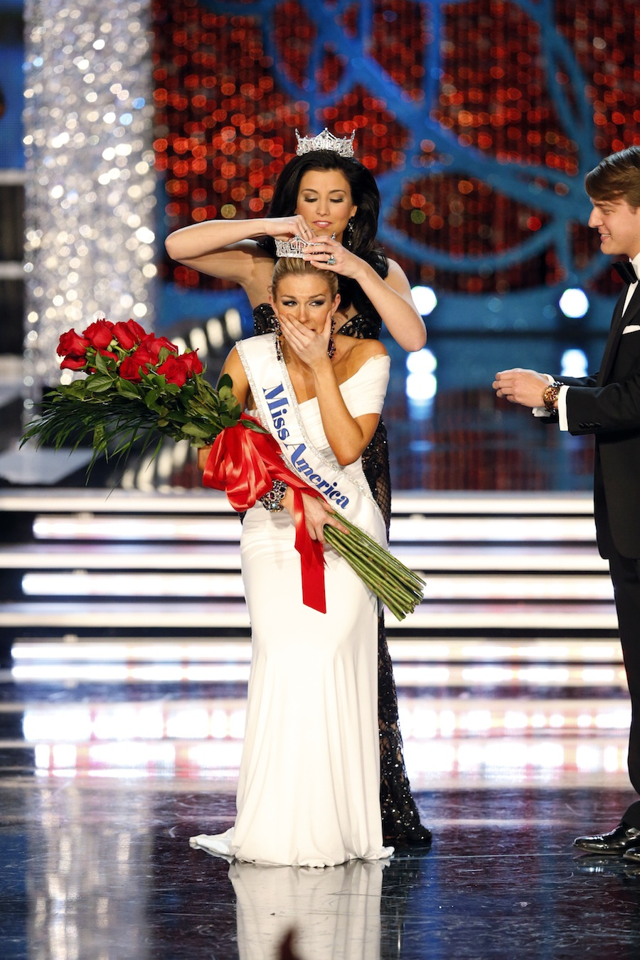 The 2013 Miss America Competition: Miss New York Mallory Hagan is crowned Miss America live Saturday, Jan. 12, on ABC. (photo by Craig Sjodin/ABC)