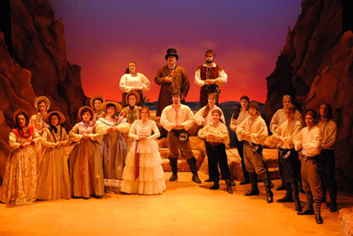 The cast of `The Pirates of Penzance,` which is on stage this weekend in the Elizabeth Ann Clune Center for Theatre on the Niagara University campus.