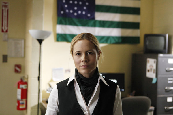 Maria Bello stars as NYPD detective Jane Timoney on `Prime Suspect.` (photo by Patrick Harbron/NBC)