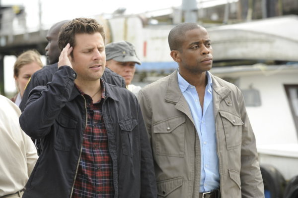 James Roady (Shawn) and Dulé Hill (Gus) star in `Psych` (USA Network photo)