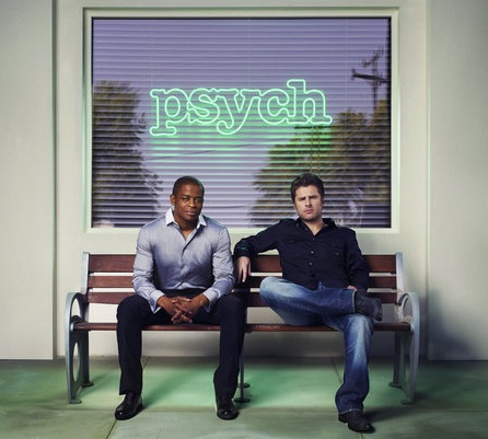Dulé Hill (let) as Burton `Gus` Guster and James Roday as Shawn Spencer on `Psych.` (USA Network photo by Williams & Hirakawa)