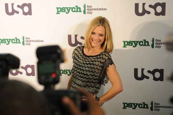 Pictured at the ` 'Psych' Fan Appreciation Day` is the ever-charming Maggie Lawson. (Photo by David Giesbrecht/USA Network/©NBCUniversal Inc.)