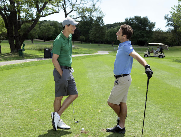 Tom Cavanagh is Jack O'Malley and Mark Feuerstein is Hank Lawson on `Royal Pains.` (photo by Giovanni Rufino/USA Network)