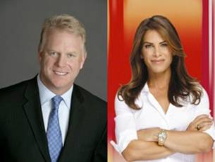 Boomer Esiason and Jillian Michaels host `Super Bowl's Greatest Commercials 2012` on CBS. (CBS photo)