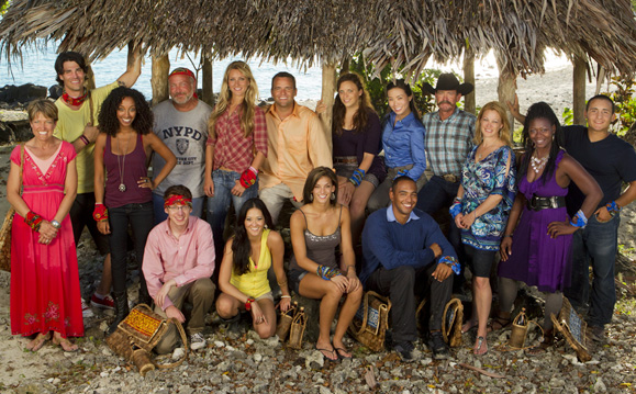 The cast of `Survivor: South Pacific.` (CBS photo)