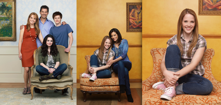 Katie Leclerc (far right) stars on ABC Family's `Switched at Birth.` (photos by Andrew Eccles)