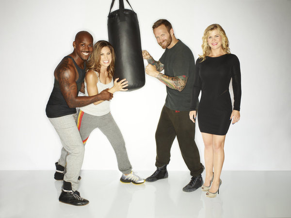 `The Biggest Loser` Season: 14: Pictured, from left, are Dolvett Quince, Jillian Michaels, Bob Harper and Alison Sweeney. (photo by Chris Haston/NBC)