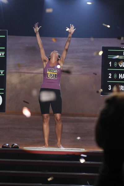 Olivia Ward won `The Biggest Loser` competition on NBC. (photo by Trae Patton/NBC)