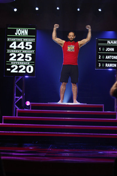 John Rhode was crowned `The Biggest Loser` on Tuesday. (photo by Trae Patton/NBC)