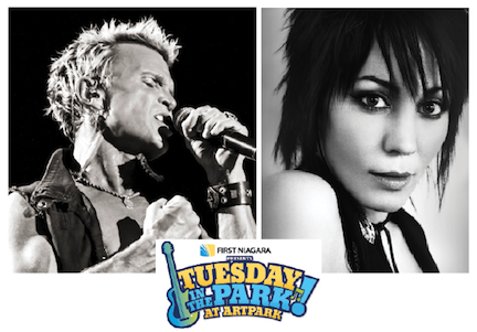 Rocker Billy Idol will ignite the summer concert season at Artpark on June 4, kicking off `First Niagara presents Tuesday in the Park.` One week later, Joan Jett and the Blackhearts are slated to take the Outdoor Amphitheater stage.