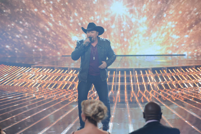 Tate Stevens performs on `The X Factor` on FOX. The season two champion will perform as part of `New Year's Eve Live!` on FOX on Monday. (photo by Ray Mickshaw/FOX)