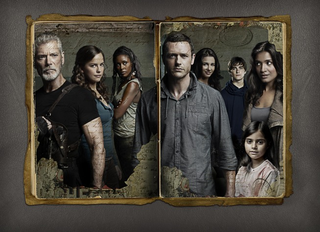 Travel back in time for the two-hour launch of `Terra Nova,` the new epic adventure drama that follows an ordinary family on an extraordinary journey to prehistoric Earth, airing Monday, Sept. 26, on FOX. Pictured from left: Stephen Lang, Allison Miller, Christine Adams, Jason O'Mara, Naomi Scott, Landon Liboiron, Shelley Conn and Alana Mansour. (photo ©2011 Fox Broadcasting Co./credit: Michael Lavine/FOX)
