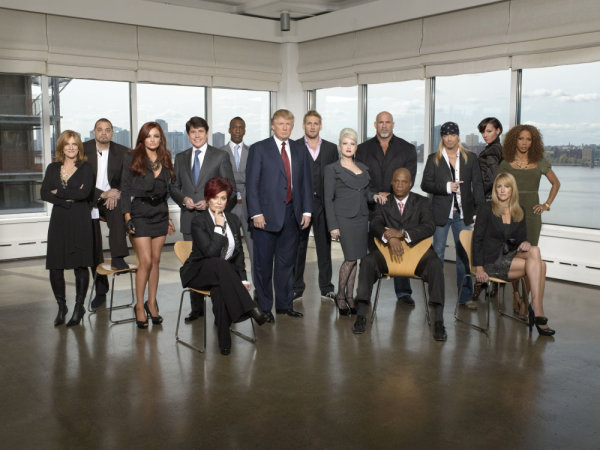 The cast of `The Celebrity Apprentice.` (photo by Mitch Haaseth/NBC)