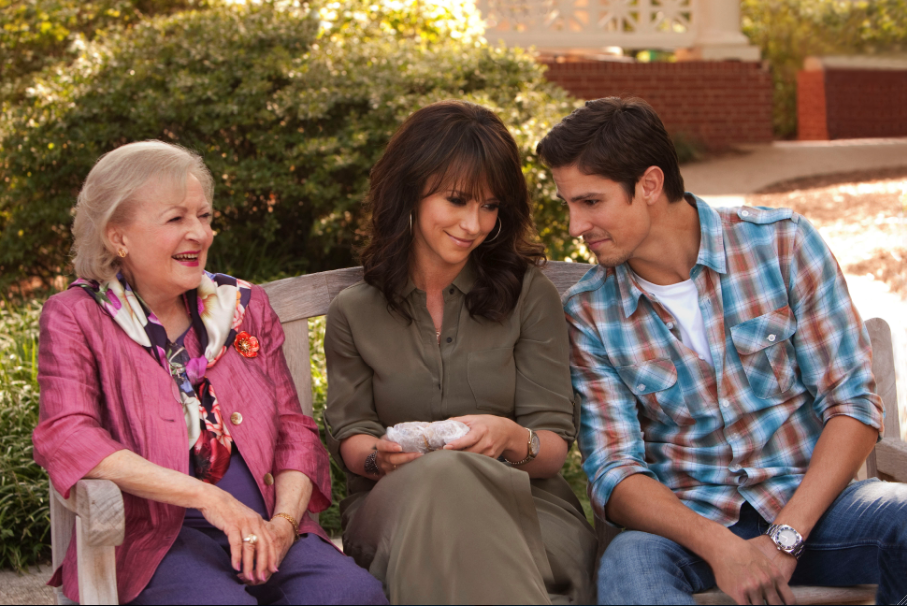 Betty White, Jennifer Love Hewitt and Sean Faris in `The Lost Valentine.` (Hallmark Hall of Fame/CBS photo by Erik Heinila)