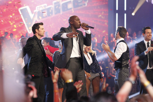 `The Voice` Jermaine Paul is the season two winner. (photo by Justin Lubin/NBC)