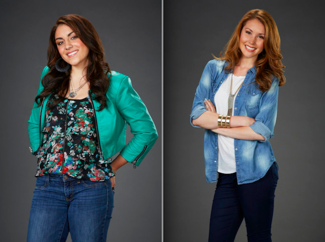From `The Voice`: Singers MarissaAnn (left) and Loren Allred. (Photos by Paul Drinkwater/NBC)