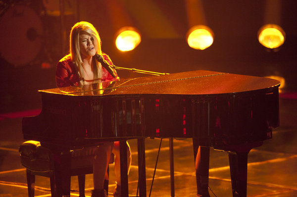 Pictured from `The Voice` is Nicolle Galyon. The show airs Monday at 8 p.m. on NBC. (photo by Lewis Jacobs/NBC)